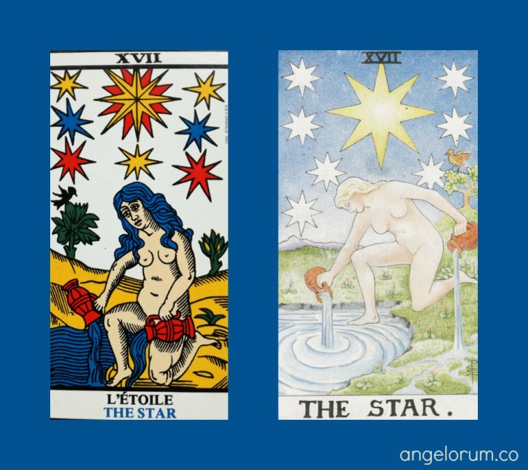 The Tarot Star Grimaud Marseille and RWS Tarot