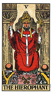 22 Daily Intentions Tarot The Hierophant