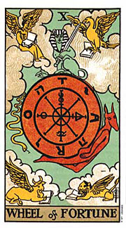 22 Daily Intentions Tarot Wheel of Fortune