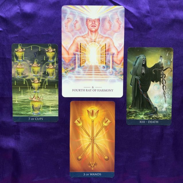 Week Ahead Pick-a-Card Lightworker Oracle and Millennium Thoth Tarot Pile 2
