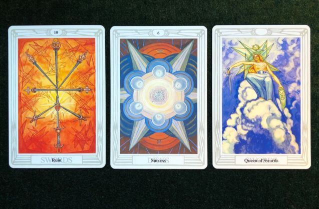 Engaging Shadow Tarot Spread - Thoth Tarot Sample Reading