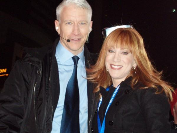 'The two Charlies' claim Kathy Griffin who is seven inches shorter than Anderson is his older brother