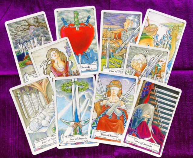 ace-10 of swords as situation, challenge, opportunity and action advice tarot card meanings