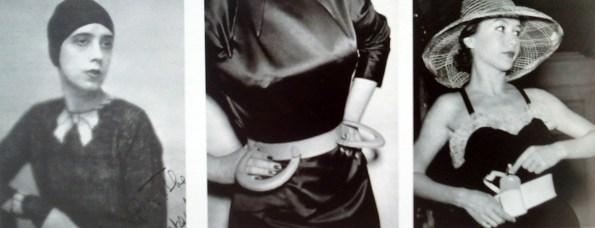"""Elsa Schiaparelli che indossa il maglione con fiocco Trompe-l'Oeil/Elsa Schiaparelli wearing her jampsuit with bow Trompe-l'Oeil.1927 Da/From Il Secolo degli stilisti"""" by Charlotte Seeling -2000"""