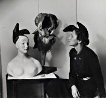 """Schiaparelli e i suoi cappelli/ Schiaparelli and her hats Da/From Il Secolo degli stilisti"""" by Charlotte Seeling -2000"""