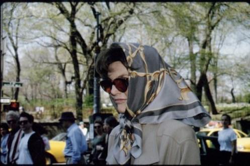 J.KENNEDY-ONASSIS wearing a Carré Hemès