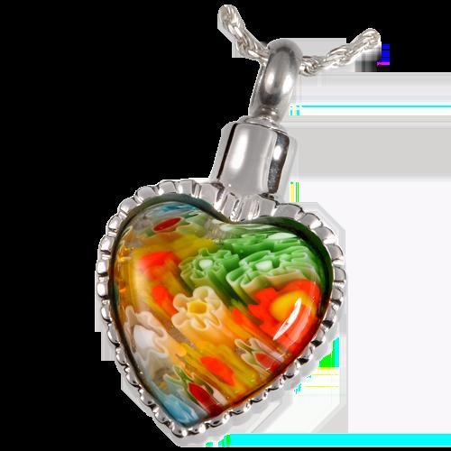 Shop angel pawprint heart of glass a pet cremation pendant heart of glass aloadofball Gallery