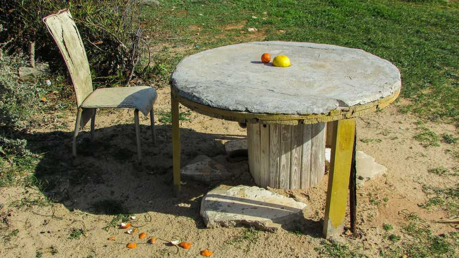 mesa improvisada