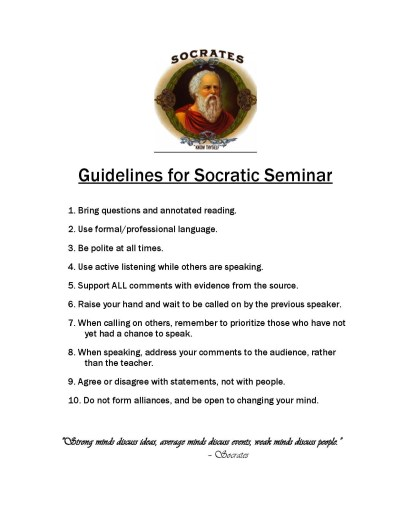 Guidelines for Socratic Seminar image