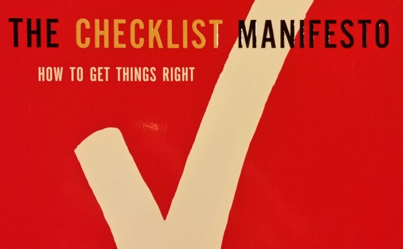 Good Books: The Checklist Manifesto