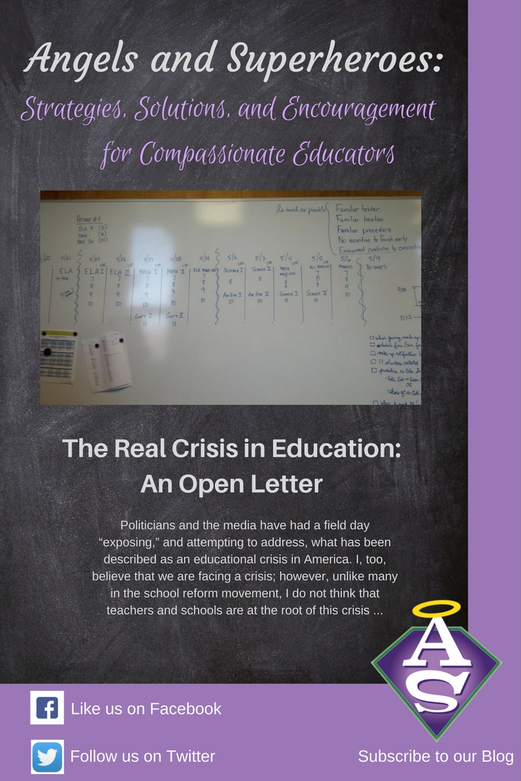 The Real Crisis in Education:An Open Letter to the Department of Education