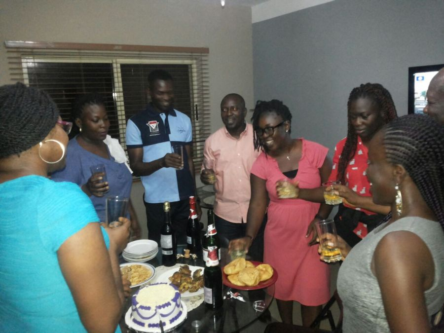 Celebrating with family