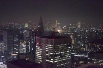Tokio noche desde edificio del Gobierno de Tokio
