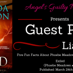 Guest Post: Five Fun Facts About Phoebe Meadows by Amanda Carlson (Exiled) ~ Giveaway/Excerpt