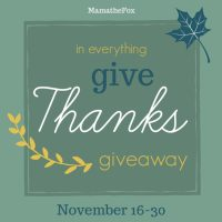 In Everything Give Thanks Giveaway Hop ~ Nov. 16th - 30th
