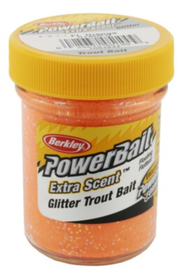 PowerBait Select Fluo. Orange Glitter Trout Bait  50g
