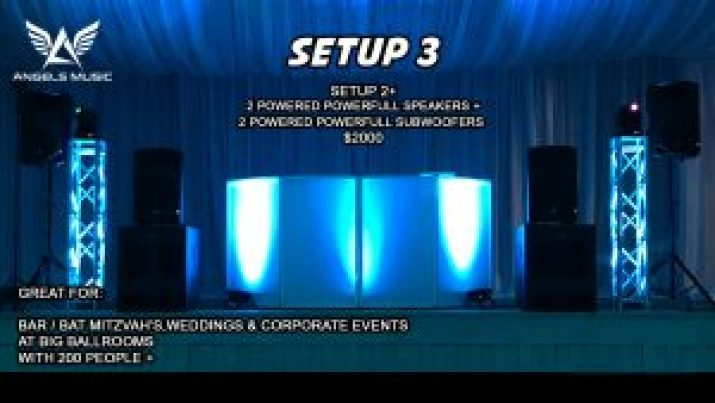Angels Music wedding DJ package 3, DJ deal setup 3