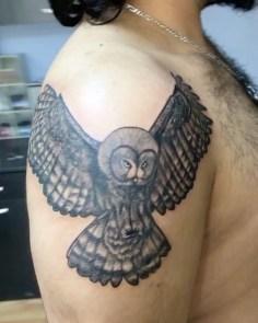 #owltattoo#blackgraytattoo #intenzetattooink #tattoo #tattoo #dovme #dovmesanati…