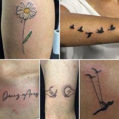 #daisytattoo#texttattoo#birdstattoo#moonsuntattoo #intenzetattooink #tattoo #tat…