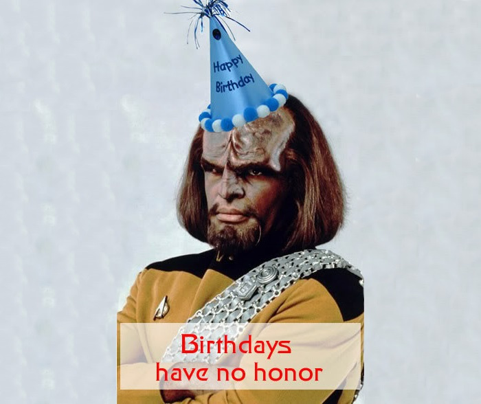 04 06 2018 Klingon Birthday