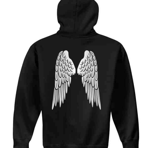 angel wings foundation pullover hoodie back