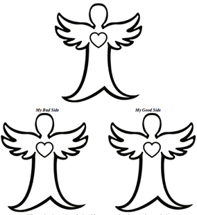 Trinity Angels Coloring Sheet - Angel with an Edge