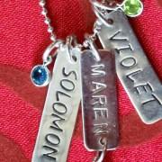 Token Tags custom sterling-silver jewelry by Elizabeth Lindsay