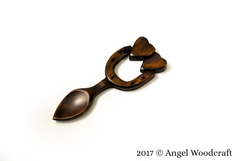 41 - God's Blessing Welsh Love Spoon 1