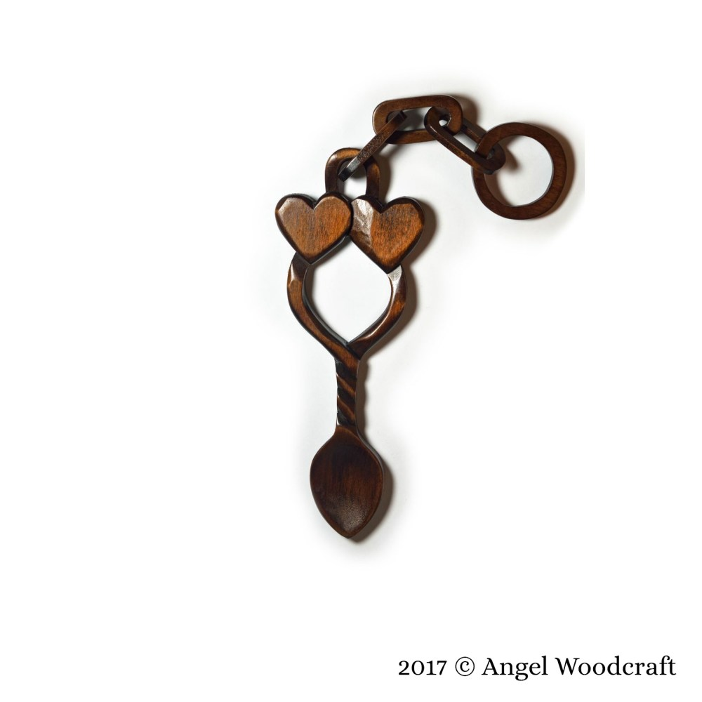 58 - Hearts Bound Together Welsh Love Spoon 2