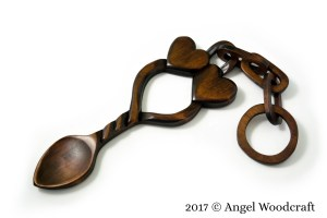 Hearts Bound Together Welsh Love Spoon