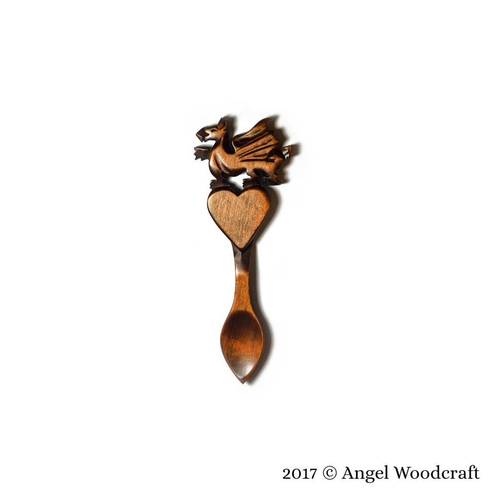 82 - Welsh Pride Welsh Love Spoon 2