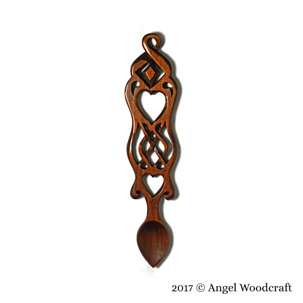 Prosperity and Love Welsh Love Spoon - CWJ 1