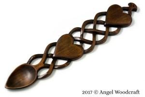 Lattice of Love Welsh Love Spoon