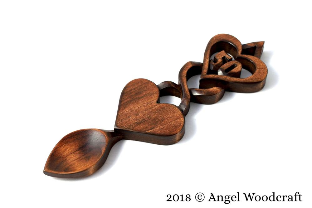 Commemoration Gift Welsh Love Spoon (Add Number of Your Choice) - W19 2