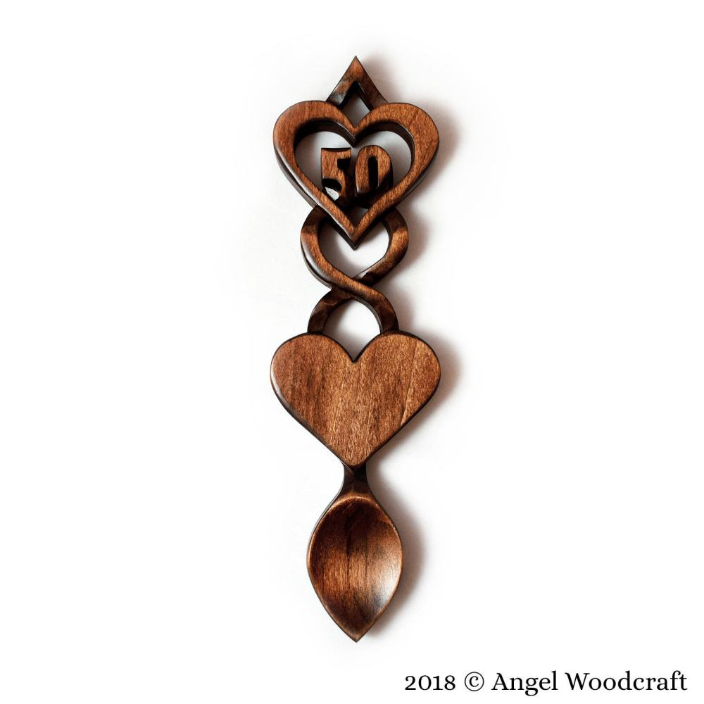 Commemoration Gift Welsh Love Spoon (Add Number of Your Choice) - W19 4