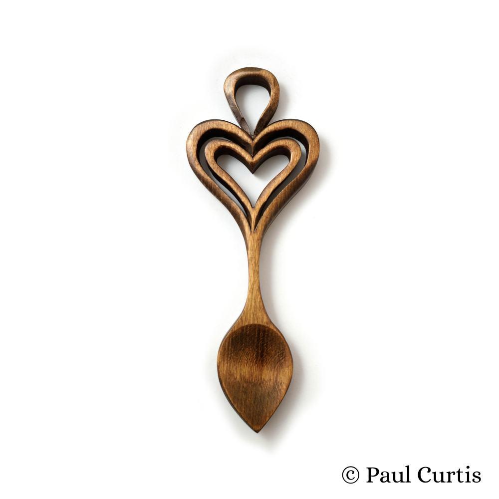 The Heart's Embrace Welsh Love Spoon - W21 2