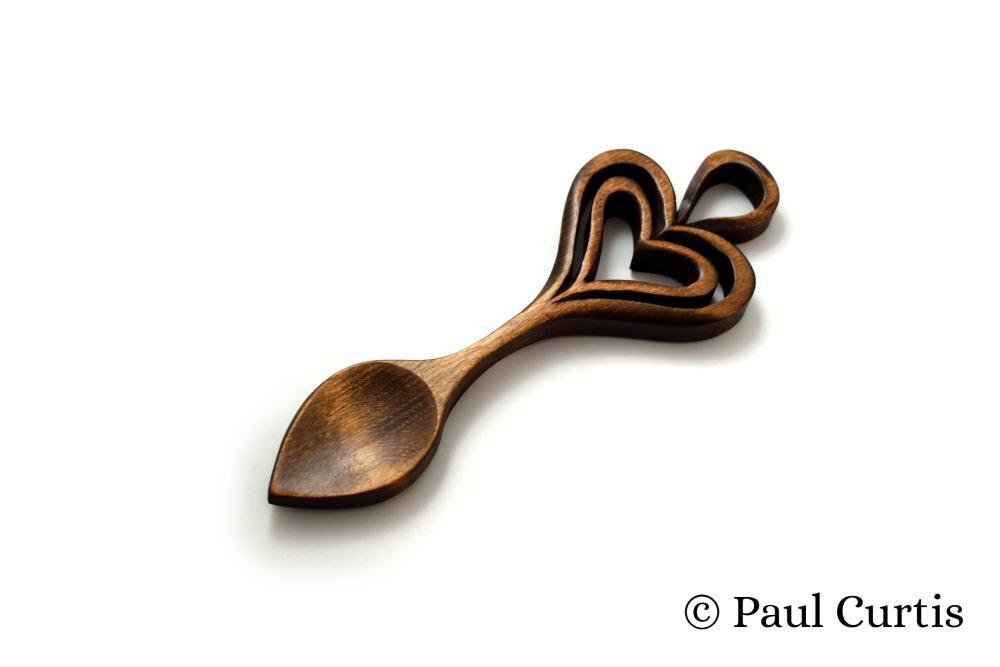 The Heart's Embrace Welsh Love Spoon - W21 1