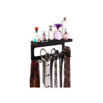 Belt Holder Organizer with Shelf - Arinn Black