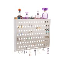 Wall Mount Earring Holder - Hannah Satin Nickel Silver