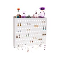 Wall Mount Earring Holder - Hannah White
