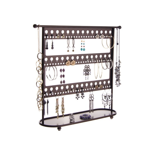 Earring Holder Organizer - Laela Rubbed Bronze