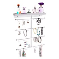 Wall Mount Jewelry Organizer - Carol White