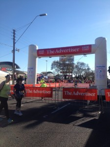 Start line of the 6km section of the City to Bay run