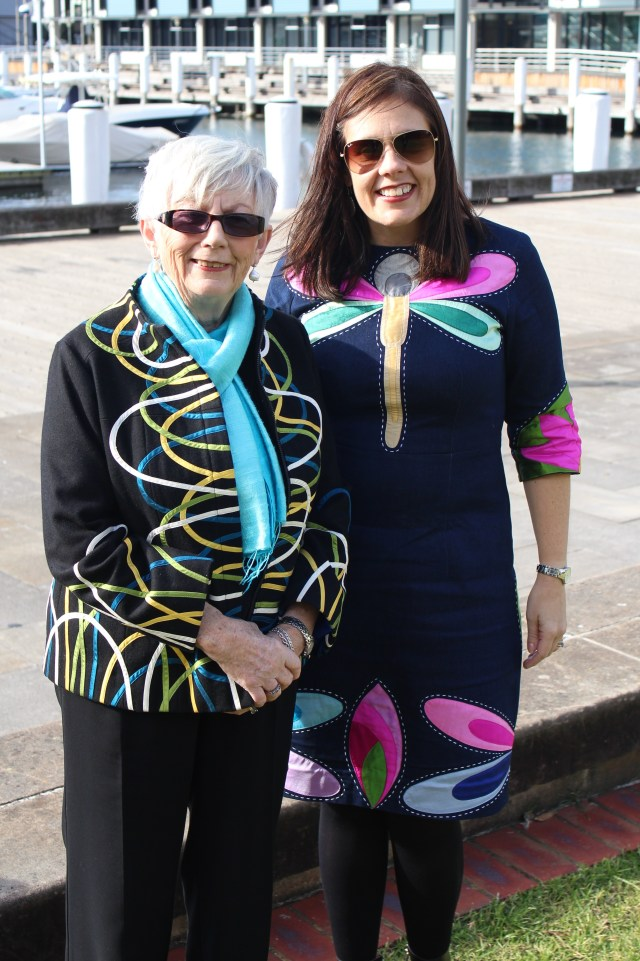 Mum and I wearing Chula on my 40th birthday. My dress was from Chula's most recent Hanoi collection and was actually adapted from a poncho!