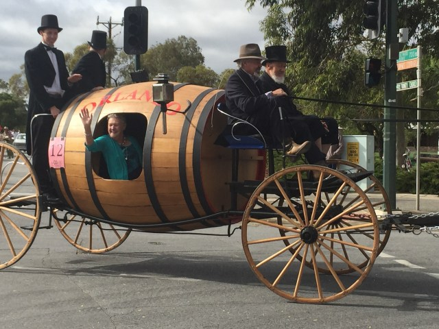 One of the floats from the 2015 Vintage Parade - which was also a part of the first parade in 1948