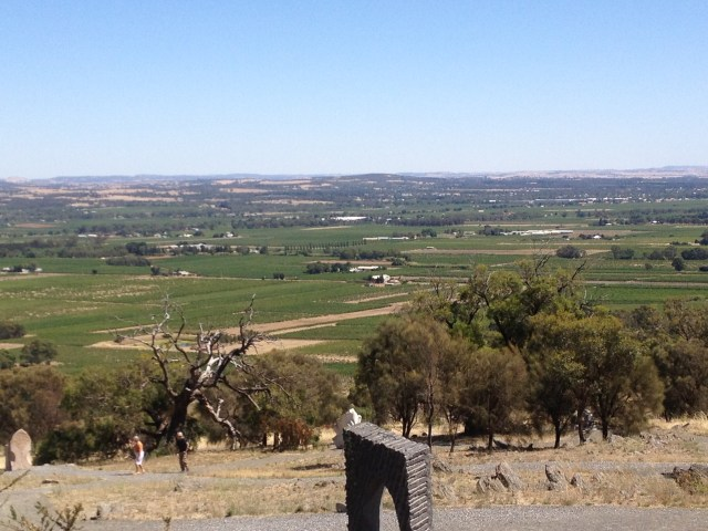 Mongrel's Hill and the Sculpture Park - great views out over Tanunda