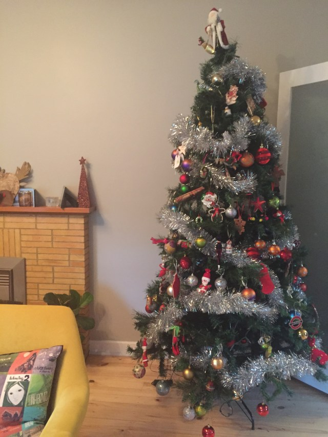 Put the tree up before all the boxes were unpacked