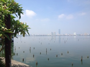 West Lake Hanoi - the morning we left in June 2014. One of the few places in Hanoi that didn't feel crowded. In there distance you can see the 60 storey building that dwarfed my 3 storey office