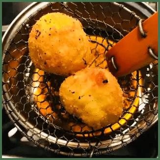 fresh fried rice ball