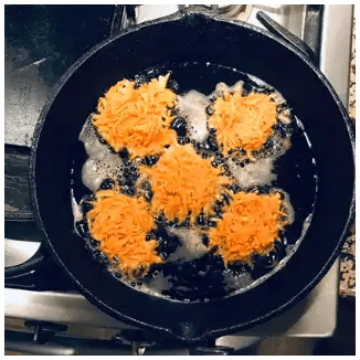 frying hash brown